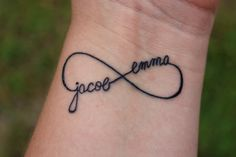 Infinity....getting this tattoo with my girls names...finally found the perfect one...EXCITED for this one!!!!!!