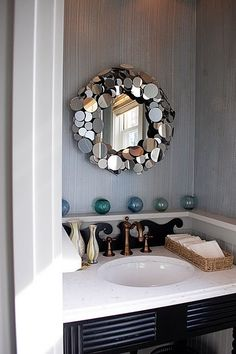 mirrored mirror frame, on the wall...absolutely.  stunning.