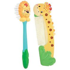 "Sassy Giraffe Comb & Lion Brush Set - Sassy - Babies ""R"" Us Price: $4.99"