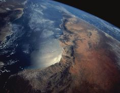 Earth From Space Photograph by Stocktrek - ❅ www.pinterest.com/WhoLoves/Outer-Space ❅ #OuterSpace #Earth