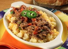 The classic Cuban ropa vieja is a savory slow-cooked beef dish that's shredded, just like its literal translation, old clothes. And because it's so easy to transport, we're betting these zesty flavors will make Cuban Shredded Beef one of your most re