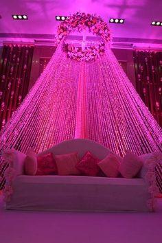 India's Best Wedding Planning Site - Online Wedding Planner - Indian Wedding Website : Wed Me Good Desi Wedding Decor, Wedding Hall Decorations, Wedding Stage Design, Wedding Reception Backdrop, Marriage Decoration, Wedding Mandap, Backdrop Decorations, Decoration Table, Backdrops