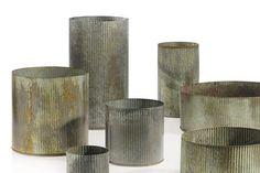 Zinc Metal Floral Vase   Silver Wedding   Afloral.com