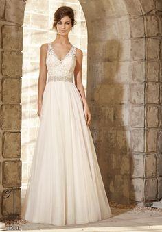 Vestidos de novias sencillos de color