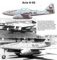 Avia S-92 (me 262 fabricado en la posguerra en Checoslovaquia)