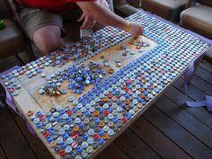 make a bottle cap table
