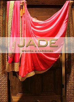 Luxe and Regal..Wear our Lovely Raspberry Sari to Chic Soirees and Inject a Dose of Vibrance! #JADEbyMK #India #Sari
