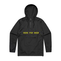 HFB Here For Beer Double-Sided Embroidery Black AS Colour 5501 Cyrus Windbreaker & Rain Jacket Front - Beer Hoodies,Funny Drinking Hoodies,Alcohol Hoodies,Alcohol Clothing,Funny Drinking Quotes,Funny Drinking Memes,Embroidery Hoodies,Typographic Hoodies,Graphic Hoodies,Alco Tops,Drunk,Here For Beer,Pilsner,Bier,Cerveza,Piwo,Miller,Fosters,Budweiser,Bud Light,Guinnes,Irish Pub,Pub Crawl,Cheers,Skål,Prost,Proost,Tchin,Santé,Cin Cin,Salute,Na Zdrowie,Tim-Tim,Fire In The Hole,Shirts,Sweatshirts Black Windbreaker, Graphic Design Art, Screen Printing, Rain Jacket, Jackets, Athletic, Embroidery, Hoodies, Studio