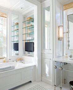 Tub shelves