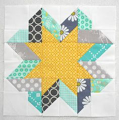 ribbon star block tutorial, freshly pieced