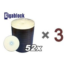 """300pcs Gigablock CD-R 52x 700MB 80Min White Inkjet Hub printable top by Gigablock. $39.99. """" Fast Domestic Delivery in 3~4 days Secured , for orders through Gigablockshop """" """" Product ship from California, USA. """"  This is CD-R recording media is the perfect everyday solution for recording in computer CD and DVD drives, because it offers broad compatibility with hardware brands and models. Featuring 700MB capacity, each CD-R can store 80 minutes of non-compressed..."""