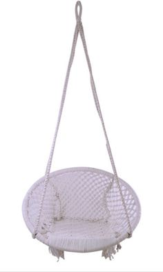 Make a statement with a macrame swing - indoors or out! - 250 lb weight limit; hang from a support beam