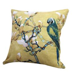 "18"" Square Parrot Print Polyester Decorative Pillow Cover  #cushions #pillows #decor #pattern #country #homedecor #livingroom"