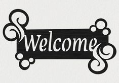 Free DXF file of Welcome Sign Insert. This file is a sample selection of our Premium DXF Files that contain collection of great DXF packages cut ready for cnc Fan Blade Art, Name Plates For Home, Metal Welcome Sign, Cnc Cutting Design, Cnc Plasma, Plasma Cutting, Cottage Signs, Cnc Wood, Natural Home Decor