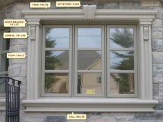 Windows Exterior Design never walk out variations. Windows Exterior Design can be embellished in numerous techniques and each Exterior Window Molding, Exterior Door Trim, Interior Window Trim, Stucco Exterior, Exterior Design, Window Moulding, Window Casing, Rustic Exterior, Moldings