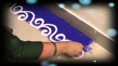 Learn Rangoli : How To Make Beautiful Border Rangoli Design