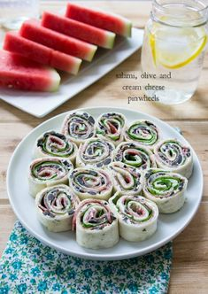 Salami, Olive and Cream Cheese Pinwheels - I Wash You Dry