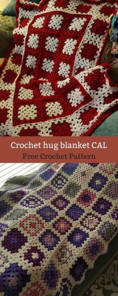 These days I tell everyone that the afghans are a hug from the person who gives it to them. I hopes you will enjoy The HUG as you put your personal Bag Crochet, Manta Crochet, Crochet Granny, Crochet Crafts, Crochet Baby, Crochet Projects, Free Crochet, Crochet Square Blanket, Crochet Blocks