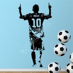 Find More Wall Stickers Information about 2016 New design Lionel Messi Figure Wa. Find More Wall Stickers Information about 2016 New design Lionel Messi Figure Wall Sticker Vinyl DIY home decor football star Decals soccer athlete fo. Kids Room Wall Stickers, Wall Stickers Murals, Wall Decal Sticker, Vinyl Decals, Lionel Messi, Kids Room Murals, Bedroom Murals, Bedroom Wall, Kids Bedroom