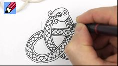 How to draw Celtic Snake Knots. Great tutorial with using string to help. Good for ribbon animals.