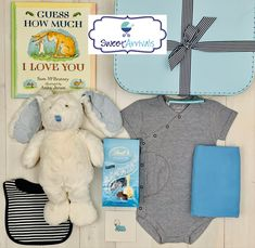 """""""Harvey Hare"""" Boutique Baby Hamper for the little baby boy Baby Hamper, Baby Baskets, Baby Boutique, Hare, Little Babies, Baby Gifts, Baby Boy, Teddy Bear"""