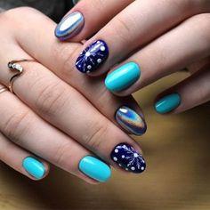 Nail art trends, designs winter 2017 - 2018