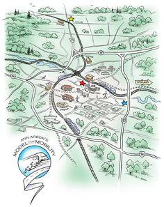 Ann Arbor map