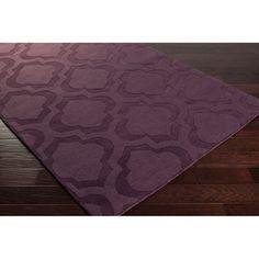Hand-Woven Ali Tone-on-Tone Moroccan Trellis Wool Rug (8' x 10')