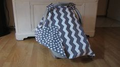 Car seat cover/ Canopy Cover/ Chevron by mydoodlebugshoppe on Etsy, $22.50