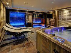 HomeSpa by VSB Wellnes Home Spa Room, Spa Rooms, House Rooms, Jacuzzi Room, Indoor Jacuzzi, Sauna Steam Room, Sauna Room, Architect House, Architect Design