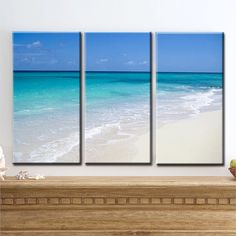 """Ocean of Love"" - Large Canvas Art, Barbados, White Sand Beach, Tropics, Beach, Home Decor, READY TO HANG, by Joelle Joy"