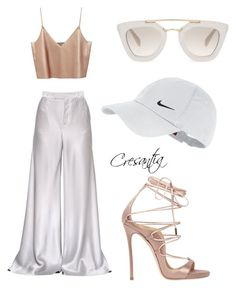 """Brunch satin casual outfit"" by stylish-luzer on Polyvore featuring NIKE, Etro, Dsquared2 and Prada"