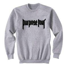 Justin Bieber Purpose Tour Crew-neck Sweatshirt