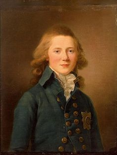 Portrait of Grand Duke Alexander Pavlovich,later Emperor Alexander I  first son of Paul I and Maria Feodorovna by Jean-Louis Voille.1792