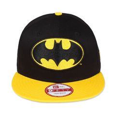 New Era DC Basic Batman Snapback Unisex Schwarz/Gelb Top Neu Superman