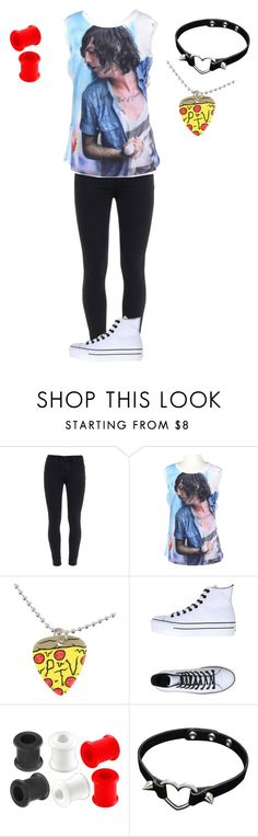 """-"" by ptv-sws-bmth ❤ liked on Polyvore featuring Paige Denim and Converse"