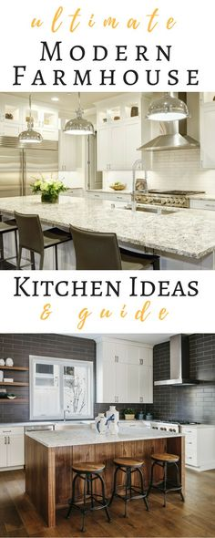 Find the ultimate Guide for your Modern Farmhouse Kitchen and how you can achieve the Design. Read on to learn what you will need to incorporate into your Kitchen Remodel to achieve a great looking Modern Farmhouse Kitchen.
