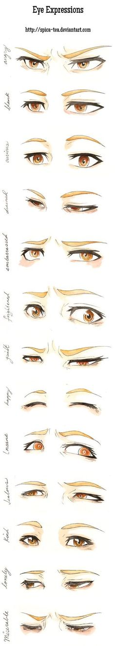 Drawing Eyes Expression Eye expressions practice by CalSparrow on DeviantArt - Body Drawing, Manga Drawing, Drawing Sketches, Cool Drawings, Drawing Eyes, Sketching, Drawing Practice, Drawing Skills, Drawing Techniques
