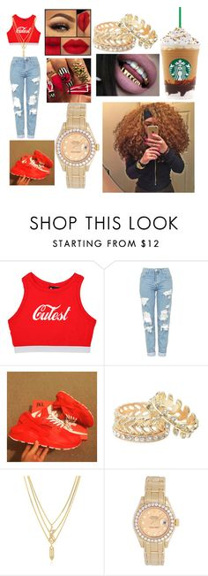 """""""💖💋Cutest💋💖"""" by glamgirli ❤ liked on Polyvore featuring Topshop, Journee Collection, Kenzo and Rolex"""