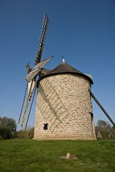 The windmill on top of the hill at Dol-de-Bretagne in Brittany, France.