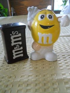 M&M Salt and Pepper Shakers Vintage Collectible by DEWshophere, $29.99