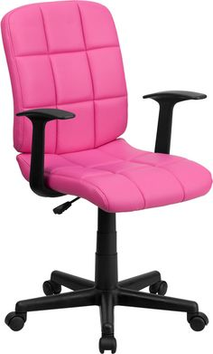 This contemporary computer chair will highlight a dull or attractive work space with its quilted, tufted upholstery. The versatility of this chair can be used in several settings from the office to th