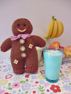 Gingerbread Boy Free Knitting Pattern