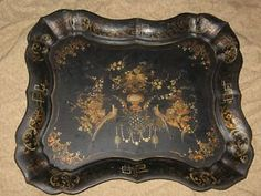 Toleware - Antique Hand Painted Tole Tray