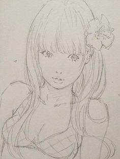 I like this style. Kinda reminds me of Obata | 水着彼女 ③ by Eisakusaku