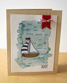 Watercolor Nautical Card