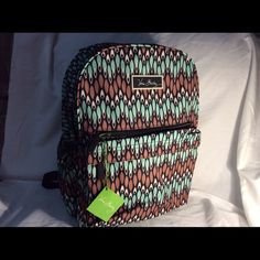NWT Sierra Stream Backpack Large backpack and Sierra Springs multiple compartments for storage Vera Bradley Bags Backpacks