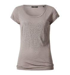 Viskose-T-Shirt mit Ziernieten