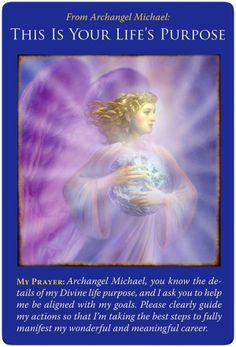 Archangel Michael Angel Cards by Doreen Virtue Archangel Prayers, Angel Guidance, I Believe In Angels, This Is Your Life, Angel Cards, Guardian Angels, Oracle Cards, Life Purpose, At Least