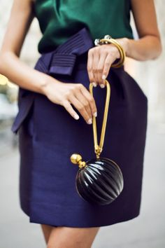 Don't care for the Lanvin Perfume Clutch, but I love the skirt and blouse…